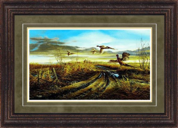 paper unsigned encore ii framed rustic mossgold 27