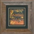 "Paper > Unsigned > Companions > Framed > Barnwood > 11.75""×11.75"": Ducks"