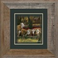 "Paper > Unsigned > Companions > Framed > Barnwood > 11.75""×11.75"": Cattle"
