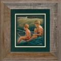 """Paper > Unsigned > Companions > Framed > Barnwood > 11.75""""×11.75"""": Terry and Billy"""