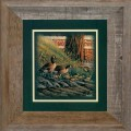"""Paper > Unsigned > Companions > Framed > Barnwood > 11.75""""×11.75"""": First Swim"""