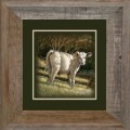 """Paper > Unsigned > Companions > Framed > Barnwood > 11.75""""×11.75"""": Calf"""