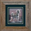 "Paper > Unsigned > Companions > Framed > Barnwood > 11.75""×11.75"": Horse"