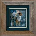 "Paper > Unsigned > Companions > Framed > Barnwood > 11.75""×11.75"": Dog"