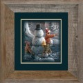 "Paper > Unsigned > Companions > Framed > Barnwood > 11.75""×11.75"": Kids and Snowman"