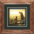 "Paper > Unsigned > Companions > Framed > Oak > 10""×10"": Cat and Dog"
