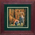 """Paper > Unsigned > Companions > Framed > Cherry > 10""""×10"""": Fishing Buddies"""