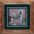 "Paper > Unsigned > Companions > Framed > Oak > 10""×10"": Horse"