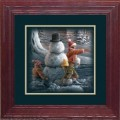 "Paper > Unsigned > Companions > Framed > Cherry > 10""×10"": Kids and Snowman"