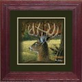 """Paper > Unsigned > Companions > Framed > Cherry > 10""""×10"""": Deer"""