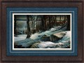 "Paper > Signed > Artist Proof > Framed > Rustic > Lapis/Moccasin Leather > 34""×25"""