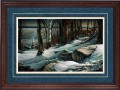 "Paper > Signed > Artist Proof > Framed > Cherry > Lapis/Moccasin Leather > 34""×25"""