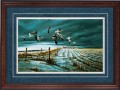 """Paper > Signed > Artist Proof > Framed > Cherry > Lapis/Brushed Silver > 42""""×28"""""""