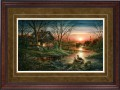 """Paper > Signed > Limited > Framed > Cherry > Moss/Moccasin Leather > 34""""×24"""""""