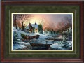 """Paper > Unsigned > Encore II > Framed > Cherry > Spruce/Gold > 27""""×19"""""""