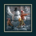 "Paper > Unsigned > Companions > Unframed > 8""×8"": Kids and Snowman"