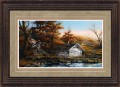 """Paper > Signed > Limited > Framed > Rustic > Rye/Moccasin Leather > 34""""×25"""""""