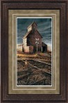 "Paper > Unsigned > Pinnacle > Framed > Rustic > Dusk/Black Spruce > 20.5""×29.5"": Grain Elevator"