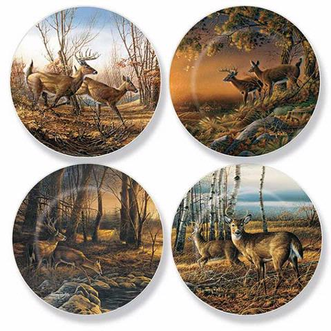 Images  sc 1 st  Redlin Art Center & Whitetail Deer Mini Plates | Redlin Art Center